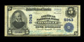 National Bank Notes:Virginia, Danville, VA - $5 1902 Plain Back Fr. 600 The American NB Ch. #9343. This nice Very Fine is an addition to the cens...