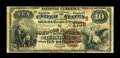 National Bank Notes:Virginia, Leesburg, VA - $10 1882 Brown Back Fr. 484 The Loudoun NB Ch. #(S)1738. This is one of only a handful of early notes kn...