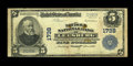 National Bank Notes:Virginia, Leesburg, VA - $5 1902 Plain Back Fr. 601 The Loudon NB Ch. # 1738.We'll call this otherwise Very Fine note Fine du...