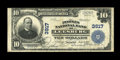 National Bank Notes:Virginia, Leesburg, VA - $10 1902 Plain Back Fr. 626 The Peoples NB Ch. #3917. A nice large size note from this much sought after...