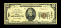 National Bank Notes:Virginia, Martinsville, VA - $20 1929 Ty. 1 The First NB Ch. # 7206. Atougher Virginia small note with the census standing at jus...