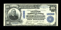 National Bank Notes:Virginia, Richmond, VA - $10 1902 Plain Back Fr. 628 The Central NB Ch. #10080. A Choice About Uncirculated note as close as ...
