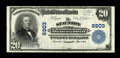 National Bank Notes:Virginia, Staunton, VA - $20 1902 Plain Back Fr. 650 The Staunton NB & TCCh. # 6903. This is one of a scant 2 large with this ban...
