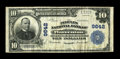 National Bank Notes:Virginia, Warrenton, VA - $10 1902 Plain Back Fr. 627 The Peoples NB Ch. #9642. Very Fine, with ample margins, but faded sign...