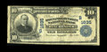 National Bank Notes:Virginia, Winchester, VA - $10 1902 Plain Back Fr. 625 The Shenandoah ValleyNB Ch. # (S)1635. A Fine note displaying remnants...