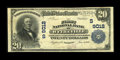 National Bank Notes:Virginia, Wytheville, VA - $20 1902 Plain Back Fr. 652 The First NB Ch. #(S)9012. Prior to the emergence of this Very Fine ex...