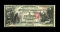 National Bank Notes:West Virginia, Fairmont, WV - $5 1875 Fr. 402 The First NB Ch. # 961. This note isone of only two $5 1875 notes in the census for this...