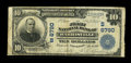National Bank Notes:West Virginia, Harrisville, WV - $10 1902 Plain Back Fr. 624 The First NB Ch. #(S)6790. This is one of 4 large notes documented for th...