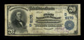 National Bank Notes:West Virginia, Middlebourne, WV - $20 1902 Plain Back Fr. 660 The First NB Ch. #(S)6170. This is one of a mere 5 large on this bank an...