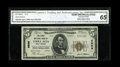 National Bank Notes:West Virginia, Terra Alta, WV - $5 1929 Ty. 2 The First NB Ch. # 6999. A brightCGA Gem Uncirculated 65 from one of the few banks i...