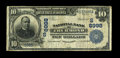 National Bank Notes:West Virginia, Thurmond, WV - $10 1902 Date Back Fr. 618 NB of Thurmond Ch. # (S)8998. This is one of just 5 large recorded on this ban...