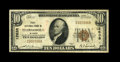 National Bank Notes:Wyoming, Thermopolis, WY - $10 1929 Ty. 1 First NB Ch. # 12638. A nice Finefrom the only issuer of small size in this Hot Sp...