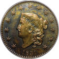 Proof Large Cents: , 1831 1C PR62 Brown PCGS. N-11, R.8 as a proof. In addition to itsobvious rarity as a Matron Head proof, this is a curious ...