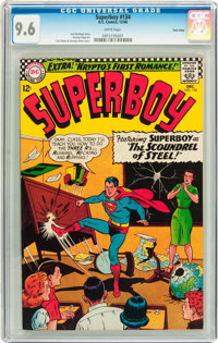 Superboy #134 Twin Cities pedigree (DC, 1966) CGC NM+ 9.6 White pages