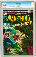 Bronze Age (1970-1979):Horror, Man-Thing #2 (Marvel, 1974) CGC NM 9.41 White pages....