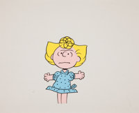 "Peanuts ""Sally"" Production Cel Animation Art (undated)"