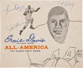 """Football Collectibles:Programs, 1961 Ernie Davis, Jim Brown and Dick Easterly Signed """"Salute to Ernie Davis Banquet"""" Program. ..."""