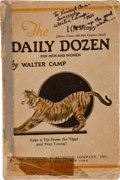 Football Collectibles:Publications, Early 1920's Walter Camp Signed Booklet....