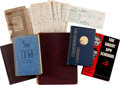 Autographs:Others, 1910's-40's Moe Berg Personally Owned Books with Multiple Signatures....