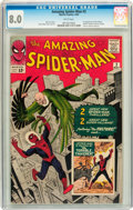 Silver Age (1956-1969):Superhero, The Amazing Spider-Man #2 (Marvel, 1963) CGC VF 8.0 White pages....