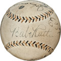 Autographs:Baseballs, 1934 Tour of Japan Team Signed Baseball with Rare Original Box....