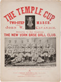 """Baseball Collectibles:Publications, 1894 """"The Temple Cup Two-Step March"""" Sheet Music...."""