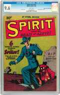 Golden Age (1938-1955):Crime, The Spirit #nn (#1) Mile High pedigree (Quality, 1944) CGC NM+ 9.6 White pages....