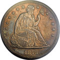 Seated Dollars, 1873 $1 MS63 PCGS. CAC....