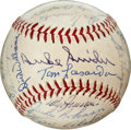 Autographs:Baseballs, 1950's Brooklyn Dodgers Legends Multi-Signed Baseball....