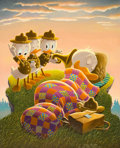 Original Comic Art:Paintings, Carl Barks Rude Awakening Painting Original Art (1974)....