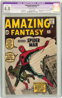 Amazing Fantasy #15 (Marvel, 1962) CGC Apparent VG 4.0 Moderate (P) Off-white pages