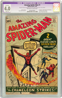 The Amazing Spider-Man #1 (Marvel, 1963) CGC Apparent VG 4.0 Slight (A) Off-white to white pages