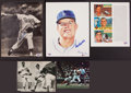 Baseball Collectibles:Photos, Don Drysdale Signed Clippings Lot of 2....