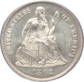 Seated Dimes, 1862 10C MS66+ PCGS. CAC....
