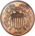 Proof Two Cent Pieces, 1873 2C Closed 3 PR64 Red and Brown PCGS....