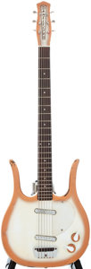 Musical Instruments:Electric Guitars, Circa 1960 Danelectro Longhorn Sunburst Solid Body Electric Guitar,#N/A....