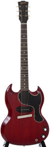 Musical Instruments:Electric Guitars, 1961 Gibson Les Paul Junior Cherry Solid Body Electric Guitar,#33903....