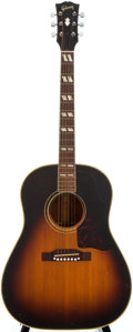 Musical Instruments:Acoustic Guitars, 1956 Gibson SJ Sunburst Acoustic Guitar, #V7135....