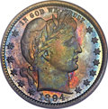Proof Barber Quarters, 1894 25C PR66 PCGS....