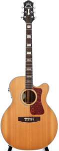 Musical Instruments:Acoustic Guitars, 2002 Guild F-47 RCE Natural Acoustic Guitar, #CUT000016....