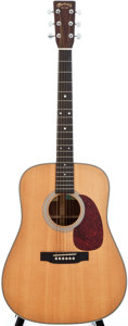 Musical Instruments:Acoustic Guitars, 1998 Martin HD-28 Natural Acoustic Guitar, #657058....