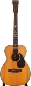 Musical Instruments:Acoustic Guitars, 1943 Martin 0-18 Natural Acoustic Guitar, #85299....