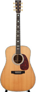 Musical Instruments:Acoustic Guitars, 1993 Martin D-41 Natural Acoustic Guitar, #527660....