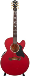 Musical Instruments:Acoustic Guitars, 1997 Gibson EC-20 Starburst Cherry Acoustic Guitar, #90037033....