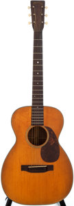 Musical Instruments:Acoustic Guitars, 1944 Martin 0-18 Natural Acoustic Guitar, #89880....