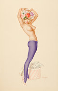 "Pin-up and Glamour Art, ALBERTO VARGAS (American, 1896-1982). Darling, It's My Hat IWant Your Opinion On"", Vargas Girl, Playboy Pin-Up, April 1..."