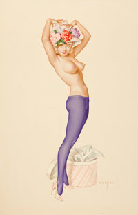 """ALBERTO VARGAS (American, 1896-1982) Darling, It's My Hat I Want Your Opinion On"""", Vargas Girl, Playboy Pin-Up&..."""