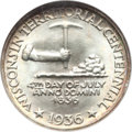 Commemorative Silver, 1936 50C Wisconsin MS68 NGC....