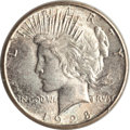 Peace Dollars, 1928-S $1 MS65 PCGS. CAC....