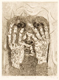 Prints:American, FROM THE ESTATE OF DR. EDMUND P. PILLSBURY. GABOR F. PETERDI(American, 1915-2001). Despair I, 1938. Etching and engra...